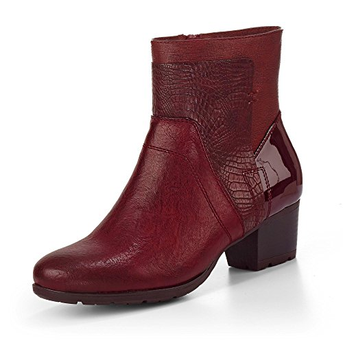 Rieker 95584-35 - Botas de Material Sintético para mujer Rojo