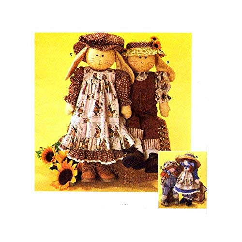 (24 inch Rag Doll or Bunny and Clothes Simplicity 7142 Crafts Sewing Pattern)