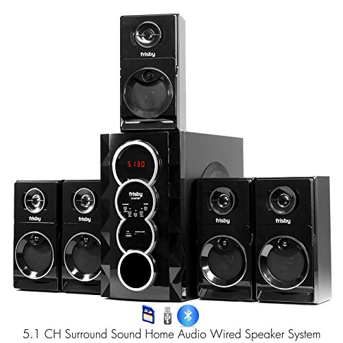 Frisby-FS-5070BT-51-Surround-Sound-Home-Theater-Speakers-System-with-Bluetooth-USBSD-and-Remote