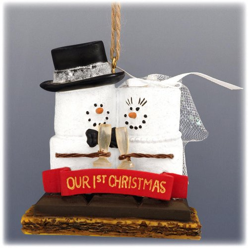 First Christmas Wedding Ornament (S'mores 'Our 1st Christmas' Resin Christmas Ornament by Midwest-CBK)