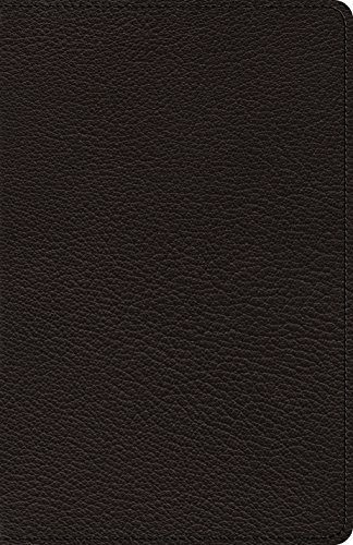 The Holy Bible: English Standard Version, Black, Goatskin Leather, Heirloom Thinline