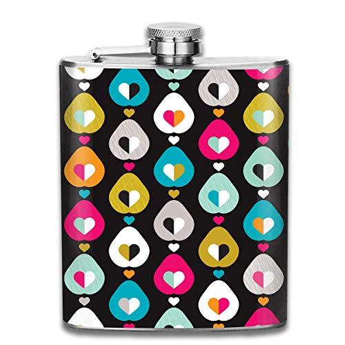 TPSXXY Pear Fruit Love Retro Pattern Stainless Steel 7 Oz Hip Flask Men Women Silver Alcohol Whiskey Liquor - Pear Brandy Bottle