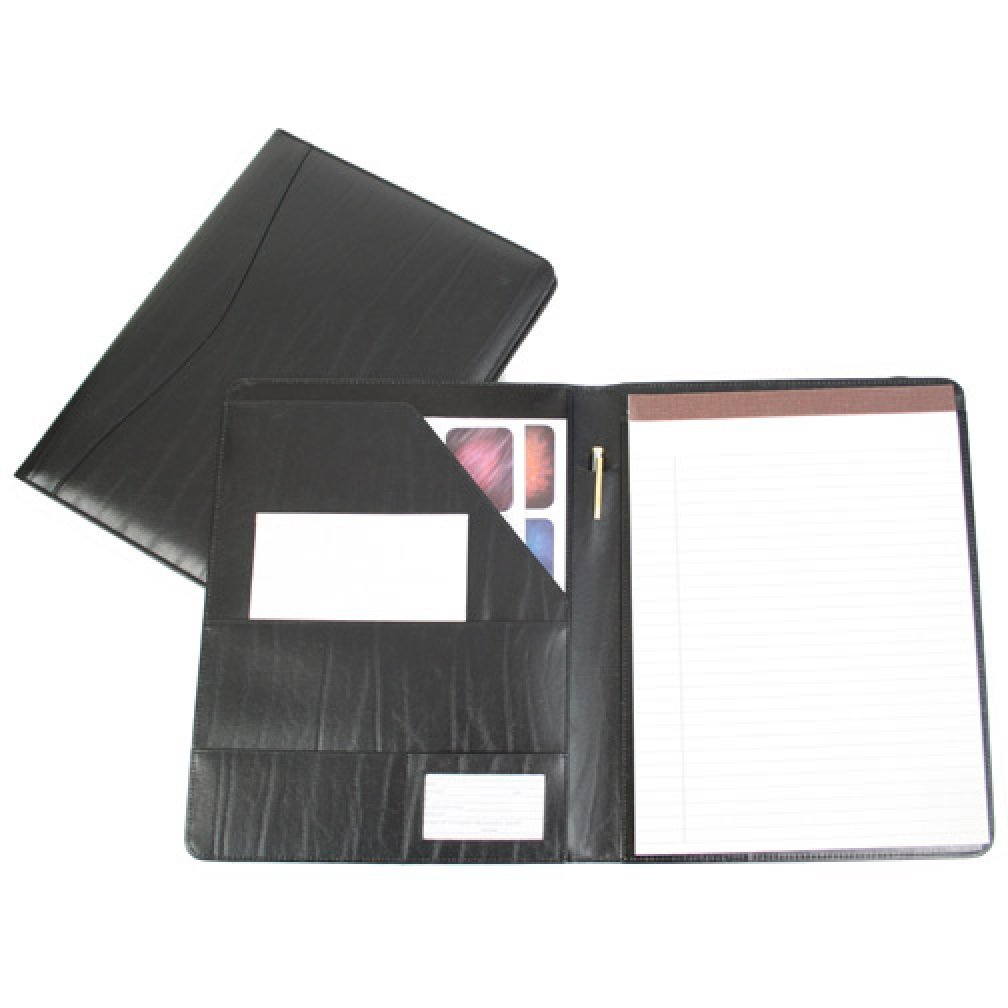 Leather portfolio cases business portfolios folders embossed with - Amazon Com Royce Leather Genuine Leather Padfolio Black Apparel Office Products