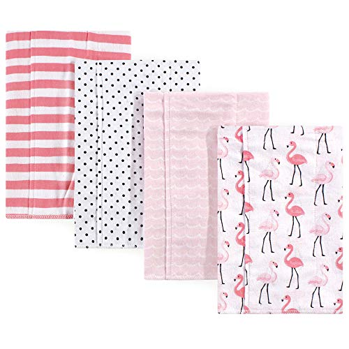 Hudson Baby Unisex Baby One Size, Flamingos 4-Pack, One Size ()
