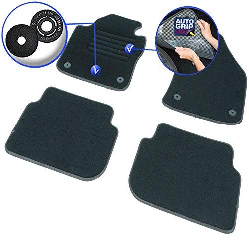 Moqueta en negro 900 g//m/² 4 uds A medida Modelo Elite Aspecto terciopelo - Antideslizante DBS 1765809 Alfombrillas de coche Alfombrillas para coche