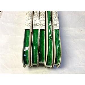 "30 Yards 1/4"" Bouffante Velvet Ribbon Fabric Made in France 100% Rayon (Apple Green)"
