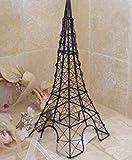 """Wire Eiffel Tower Jewelry Stand 12"""" Black Iron"""