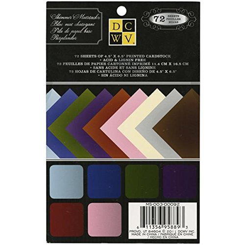 (Diecuts with A View MS003092 Mat Stack, 4.5 by 6.5-Inch, Shimmer Solids, 72/Pack)