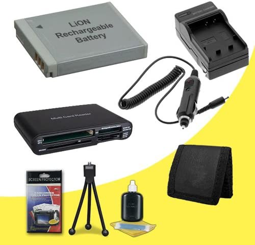 Deluxe Starter Kit for Kodak Easyshare Mini M200 M583 Touch M577 M532 M575 M552 KLIC-7006 Lithium Ion Replacement Battery w//External Rapid Charger M531 MD30 Multi Card USB Reader M23 M873 M883 Digi Memory Card Wallet M580 M522 M550 M530