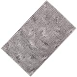 Lifewit 32'x20' Bath Mat Non Slip Microfiber Shaggy Chenille Bath Rugs Bathroom Shower Mats Rug Gray