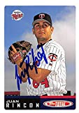 Juan Rincon autographed baseball card (Minnesota Twins, FT) 2002 Topps Total #643