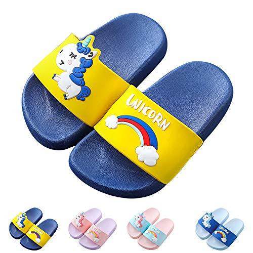 Techcity Toddler Little Kids Slide Sandals Non-Slip Summer Slippers Lightweight Beach Pool Water Shoes for Girls and Boys