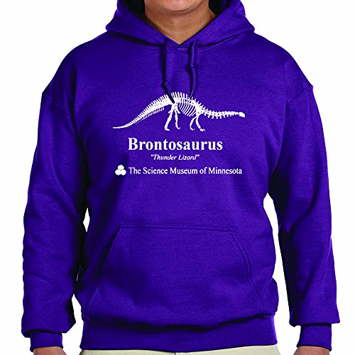 TeeINKS Stranger Things Purple Brontosaurus Hoodie (Medium)
