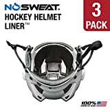 No Sweat Hockey Helmet Liner -- Moisture Wicking Sweatband Absorbs Dripping Sweat | Helps Prevent Acne, Reduces Fogging / Anti-Fog - (Hockey Players / Officials and Referee) (3 Pack)