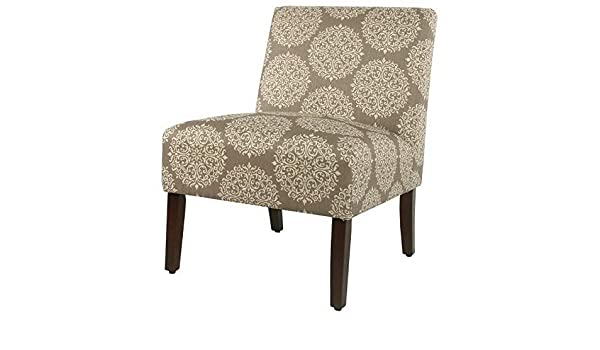 Amazon.com: Hebel Carson Medallion Armless Accent Chair | Model CCNTCHR - 237 |: Kitchen & Dining