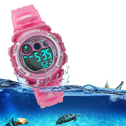 Kids Sports Watches Children For Girls Boys Waterproof Military Dual Display LED Kids Watch