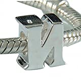 Letter N Charm Sterling Silver 925 Initial A-z Alphabet Beads Name Charm for Charms