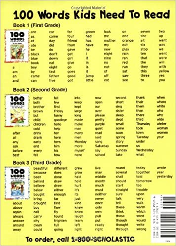 100 Words Kids Need to Read by 1st Grade: Sight Word Practice to ...