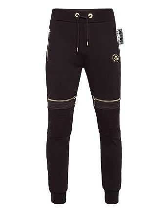 38d53a3f904 Philipp Plein - Pantalon de Sport - Homme Noir Noir  Amazon.fr ...