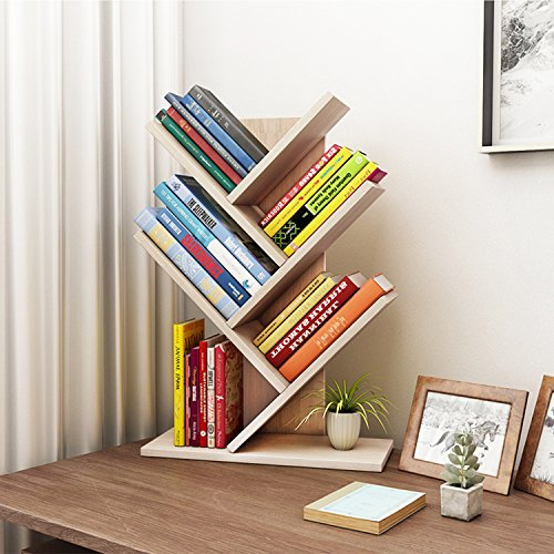 Deluxe Wood Closet - Jerry & Maggie 5 Tier Shelf Display Organizer Sloped Storage Wood Closet Multi Units Deluxe Free Stand Shelving Shelves Rack - Arrow Shaped | White Wood Tone