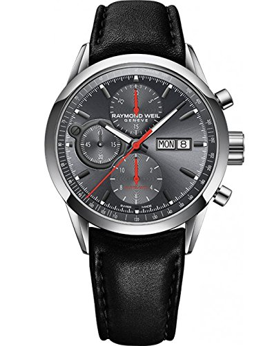 Raymond-Weil-Mens-Freelancer-Swiss-Automatic-Stainless-Steel-Dress-Watch-ColorBlack-Model-7730-STC-60112
