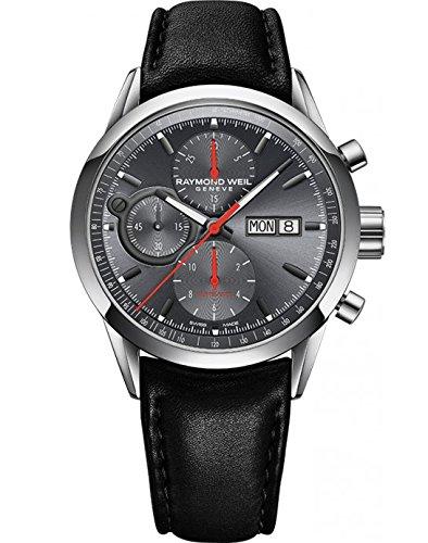 Raymond Weil Reloj Cronógrafo para Hombre de Automático con Correa en Cuero 7730-STC-60112: Amazon.es: Relojes