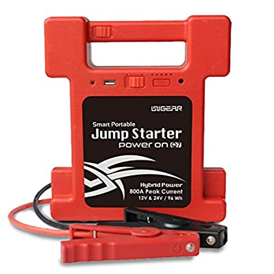 UNIGEAR Heavy Duty Jump Starter Q7 Peak 800A 12V 25900mAh For Trucks &Vehicle Portable Power Bank Complete Smart Protection with Special Tool Box