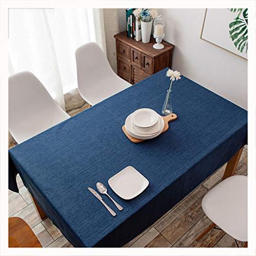 B 100150cm DUOMING Nappe Etanche Solide Couleur Couleur Table à Manger Ménage Table Basse Restaurant Nappe en Coton Et Lin couvertures de Table (Couleur   B, Taille   100  150cm)