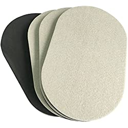 4-PACK 9.5 In. x 5-3/4 In.Premium Oval Heavy Furniture Moving Sliders Movers For Wood Floor,Felt Furniture Slider , Heavy Duty Felt Furniture Sliders,Furniture Mover,Reusable Furniture Moving Pads