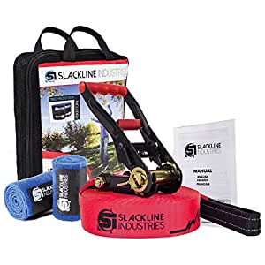 Slackline Industries Baseline Slackline Complete Kit With Tree Protection, 50FT