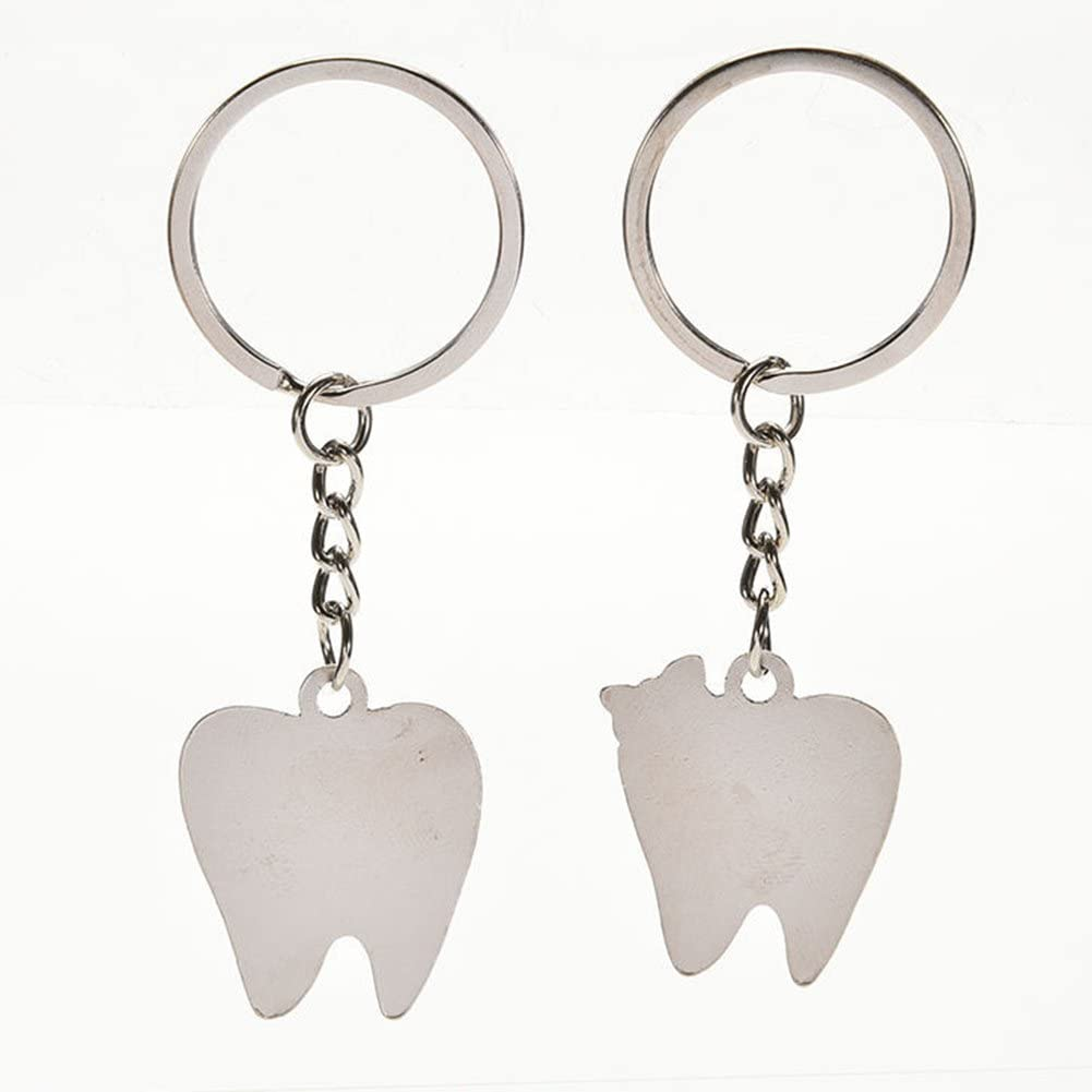 Chytaii Keyring Keychain Couple Key Ring Chain Smile Teeth Couple Keyring Charm Gift for Lovers Valentines Day Anniversary Girlfriend Boyfriend