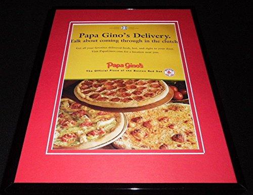 2007 Boston Red Sox Framed - 2007 Papa Gino's Pizza/Boston Red Sox Framed 11x14 ORIGINAL Advertisement B