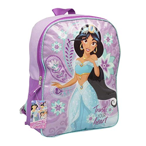 Character Backpacks For School, Summer Camp, Travel and Outdoors With Adjustable, Padded Back Straps (Aladdin, 15