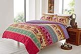 Empress Duvet Cover Set Quilt Cover Bed Linen Reversible Elly Tribal Elephant Multi King
