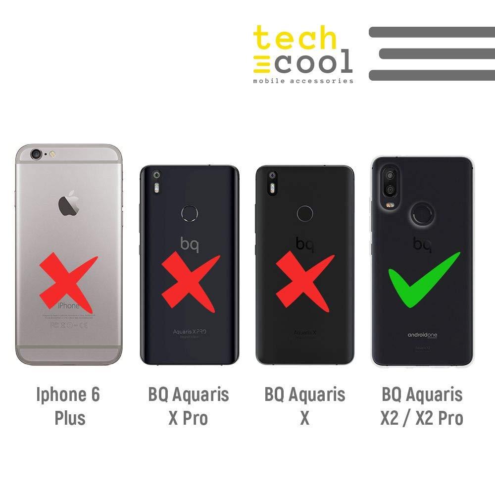 X2 Pro Funnytech/® Funda Silicona para BQ Aquaris X2 Plantas Fondo Transparente Gel Silicona Flexible, Dise/ño Exclusivo