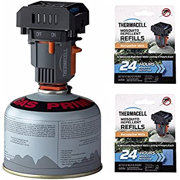 ThermaCELL Backpacker Repeller (MR-BP) & two 24-Hour Mat Refills