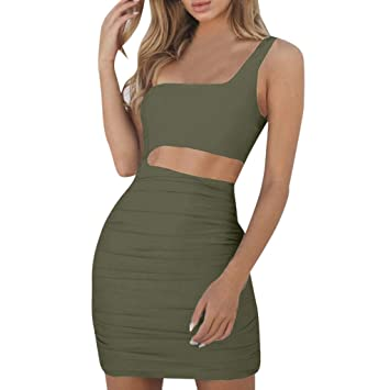 Amazon.com: YKARITIANNA Sexy Women One Shoulder Dress Sleeveless Evening Party Bodycon Dress Party Queen: Arts, Crafts & Sewing