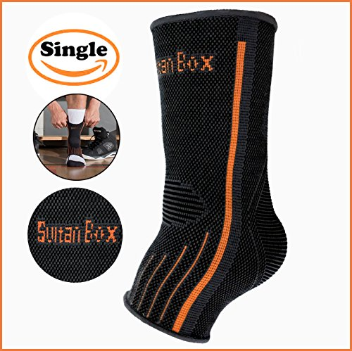 Ankle Brace - SultanBox [Arch, Ankle Support]  Football, Running, Braces, Pain Relief, Copper, Tennis, Volleyball, Fitness, Basketball, Baseball, Womens, Mens, Kids (Small)