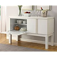 247SHOPATHOME Idf-3176WH-SV Sideboards, White