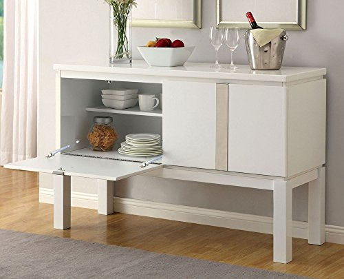 76WH-SV Sideboards, White (White Lacquer Buffet)