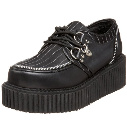 Demonia By Pleaser Women's Creeper-113 Lace-Up,Black Polyurethane /Pinstripe,10 M US by Pleaser