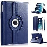 Apple Ipad Mini 360 rotation case with Screen Protector by DN-TECHNOLOGY® (iPad Mini / Mini 2 / Mini 3 , Blue)