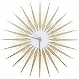 Starburst Wall Clock 'Atomic Era Clock - Maple White/Grey' by Adam Schwoeppe & Nicholas Yust - Midcentury Decor, Wood & Acrylic Retro Modern Design