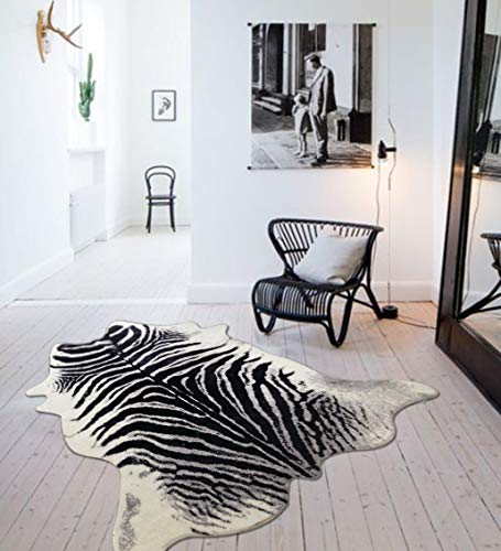 Faux Zebra Cowhide Rug for sale  Delivered anywhere in USA
