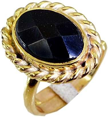 marvelous Black onyx Copper Black Ring handmade L-1in US