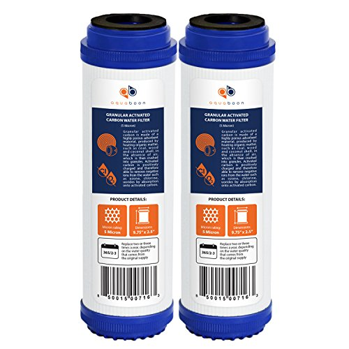 "Aquaboon 5 Micron 10"" Granular Activated Carbon Water Filter Replacement 