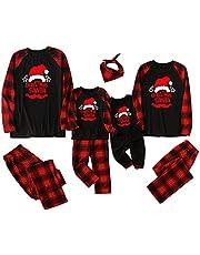 Santa Patroon Plaid Familie Bijpassende Kerst Pyjama Sets Xmas pjs Nachtkleding voor Vrouwen Mannen Kids Baby Romper