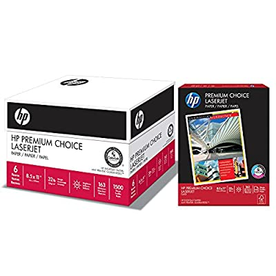 HP Paper, Premium Choice Laserjet, 32lb, 8.5x11, Letter, 100 Bright, Made In The USA