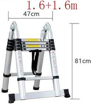 YIXINY - Escalera extensible multifunción de aleación de aluminio, altura ajustable, telescópica, plegable, 150 kg de peso: Amazon.es: Bricolaje y herramientas