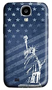 Samsung Galaxy S4 I9500 Hard Case - Retro Statue Of Liberty And Flag Galaxy S4 Cases
